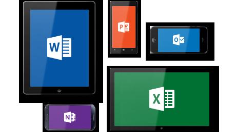 Office auf unterschiedlichen Geräten